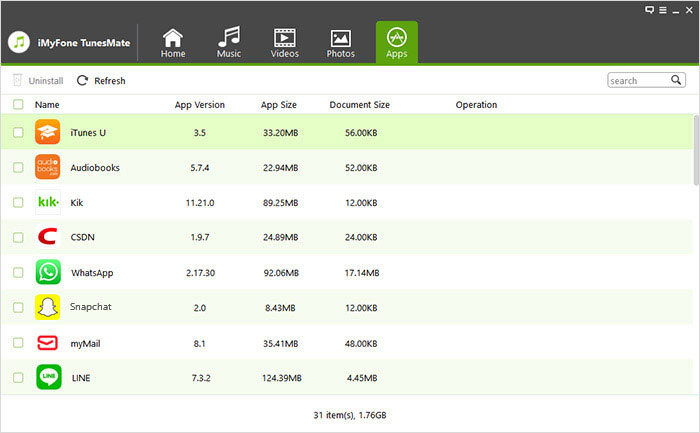 Screenshots of TunesMate